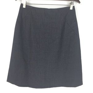 Theory Size 6 Wool Blend A Line Skirt Gray
